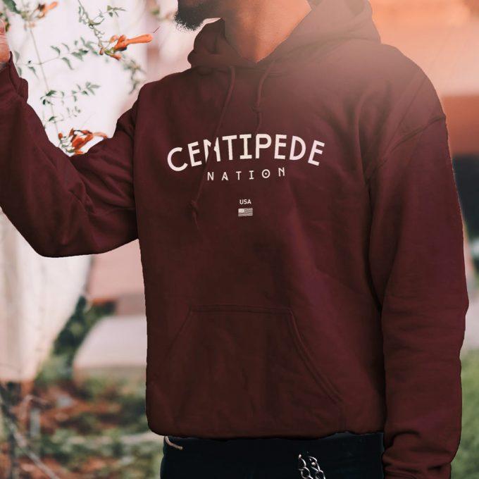 Centipede Academy Hoodie – Color: Mahogany