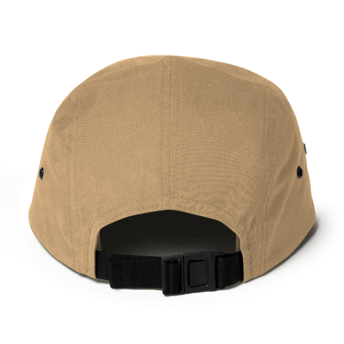 Centipede Nation 5 Panel Hat With Box Logo - Color: Desert