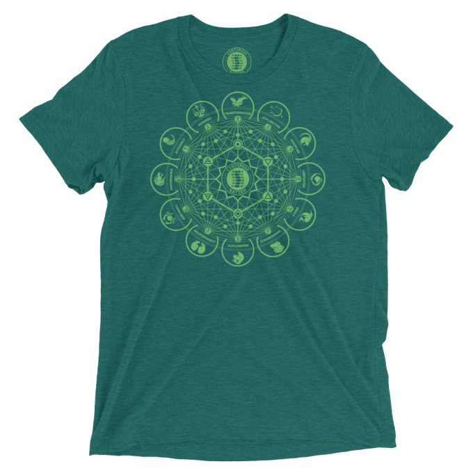 Dodecagon Tee by Centipede Nation – Color: Aventurine