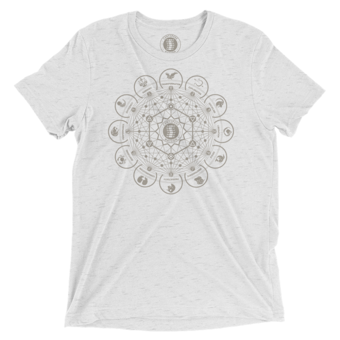 Dodecagon Tee by Centipede Nation – Color: Magnetite