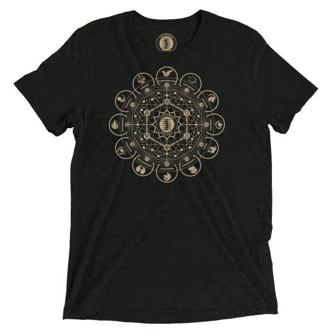 Dodecagon Tee by Centipede Nation – Color: Pyrite