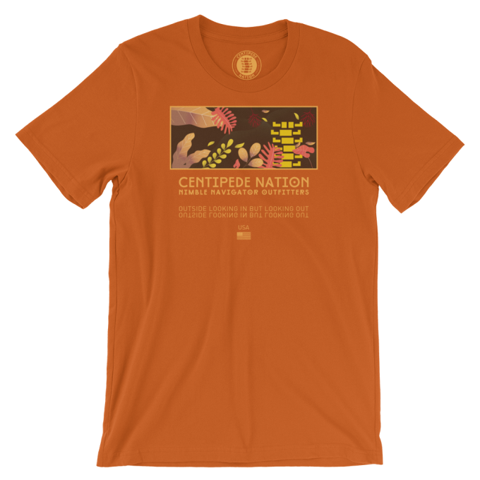 Outside Looking In But Looking Out Tee by Centipede Nation – Color: Harvest