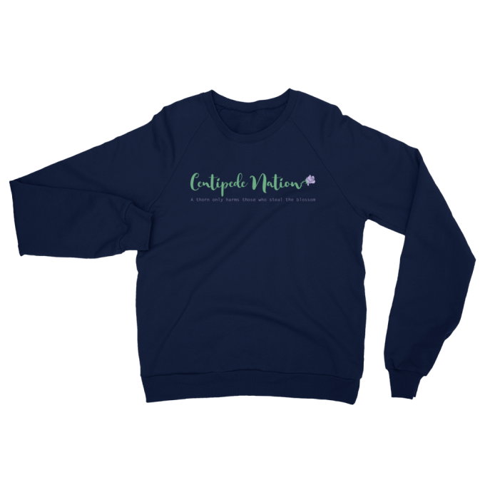 A Thorn Only Harms Those Who Steal The Blossom Sweatshirt by Centipede Nation – Color: Blush