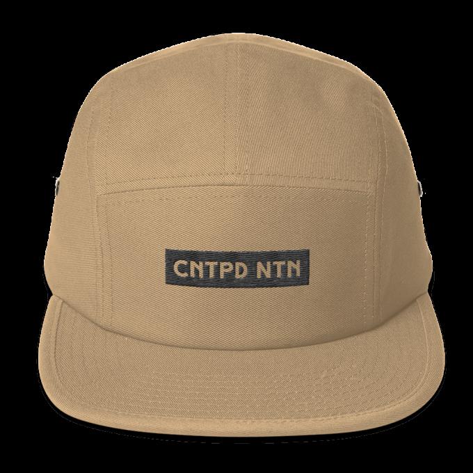 Centipede Nation 5 Panel Hat With Box Logo - Color: Desert